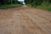 A road that my friend Felipe and I traveled in southern Brazil.